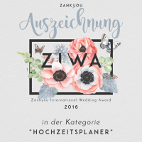 ZIWA Auszeichnung Hochzeitsplaner