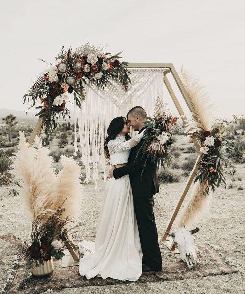 Trendy Geometric Wedding geometrischer Traubogen